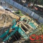 広州で道路陥没、17日経過後も、遭難者の捜査は継続中