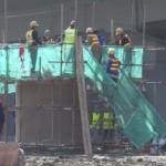広州で道路陥没、転落車両の位置確認済み、大型設備が救助現場へ入場